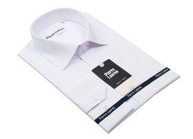 Полуприталенная белая мужская рубашка