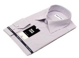 Приталенная мужская рубашка с длинным рукавом в полоску