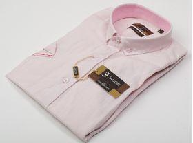100290JМК Розовая мужская рубашка приталенная Jacoe
