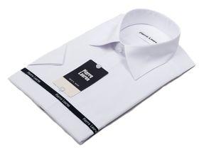 Белая мужская рубашка c коротким рукавом