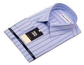 Классическая мужская рубашка больших размеров в синюю полоску