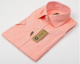 100450JМК Оранжевая мужская рубашка приталенная Jacoe