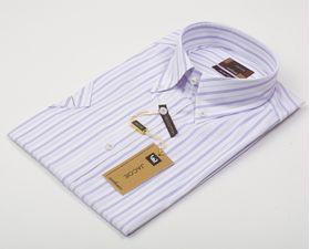 200123JМК Мужская рубашка в полоску приталенная Jacoe