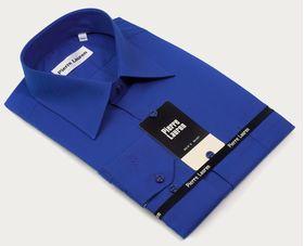 Однотонная синяя мужская рубашка Super Slim Fit