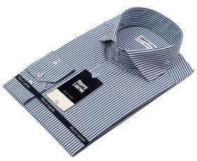Красивая мужская рубашка в синюю полоску