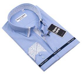 Голубая мужская рубашка Elegance приталенного кроя Super Slim Fit