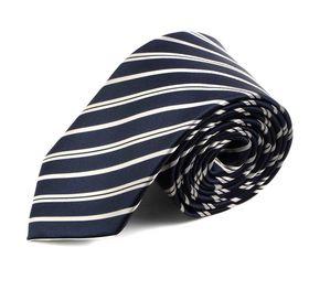 Классический темно-синий мужской галстук