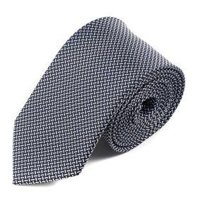 Мужской галстук черного цвета с белым узором