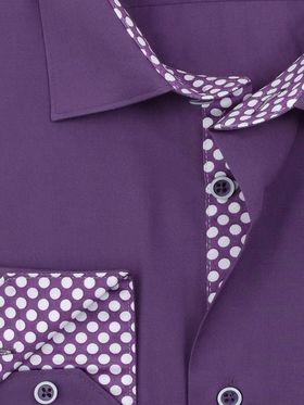 Красивая мужская рубашка Elegance приталенного кроя Super Slim Fit фиолетового цвета