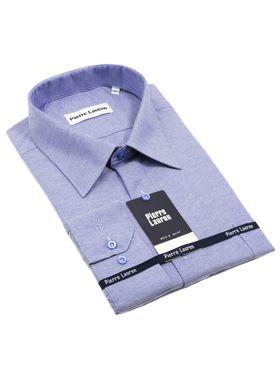 Однотонная мужская рубашка прямого покроя больших размеров из структурной ткани