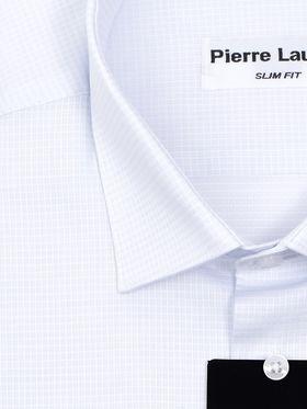 Светло-голубая мужская рубашка из структурной ткани