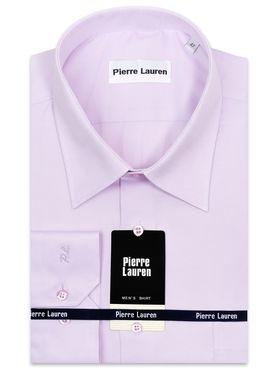 Однотонная розовая мужская рубашка больших размеров