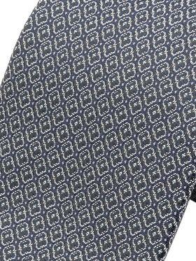 Серый мужской галстук с шелметрическим узором. Галстук шириной 9 см у основания.