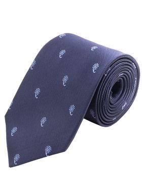 Синий мужской галстук с рисунком пейсли. Галстук шириной 9 см у основания.