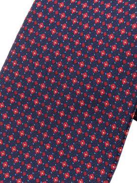 Бордовый мужской галстук с геометрическим рисунком. Галстук шириной 9 см у основания.