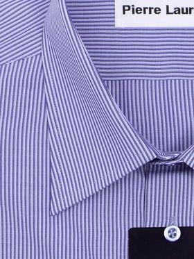 Синяя мужская рубашка в полоску