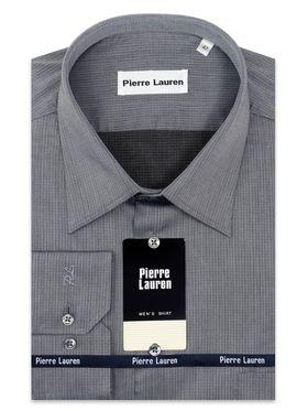 Серая мужская рубашка больших размеров