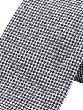 Серый мужской галстук в горошек
