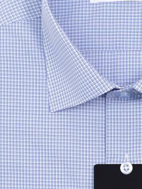 Голубая мужская рубашка в клетку