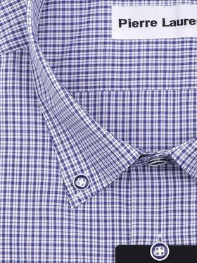 Мужская рубашка больших размеров в синюю клетку