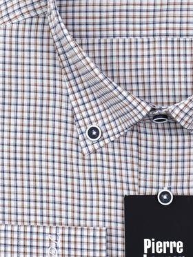 Мужская рубашка в сине-коричневую клетку