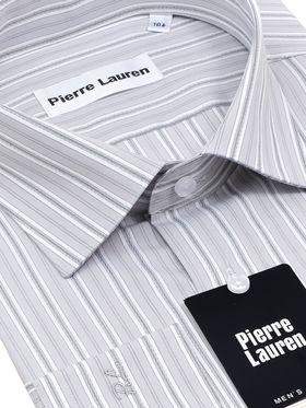 Мужская рубашка в серую полоску, из 100% хлопка