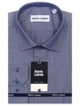 Мужская рубашка в синюю полоску из 100% хлопка
