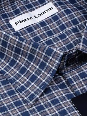 Красивая мужская рубашка в синюю клетку, с длинным рукавом