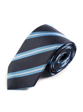 лассический мужской галстук из темно-синей структурной ткани