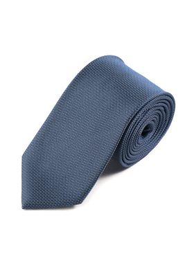 Мужской галстук синего цвета с геометрической текстурой