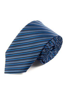 Синий мужской галстук шириной 7.5 см в полоску