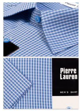 1161TSFK Приталенная мужская рубашка в синюю полоску