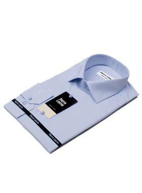 Мужская рубашка из голубой текстурной ткани