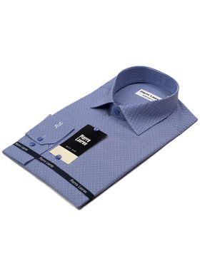 Мужская рубашка синего цвета с белой полоской