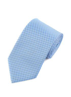 Голубой галстук с геометрическим узором
