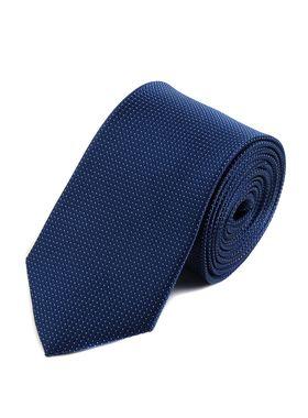Мужской галстук темно-синего цвета с узором
