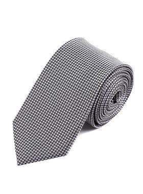 Светло-серый мужской галстук с геометрическим узором