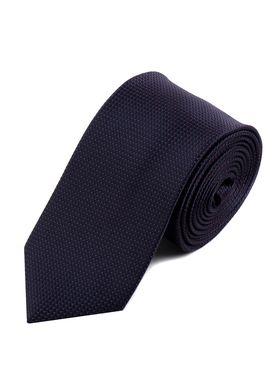 Темно-фиолетовый мужской галстук с геометрическим узором
