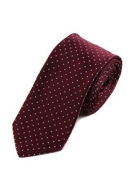 Красивый мужской галстук бордового цвета с белым узором