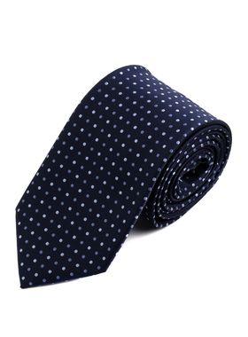 Красивый темно-синий мужской галстук c узором
