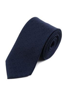 Темно-синий мужской галстук с красивым узором