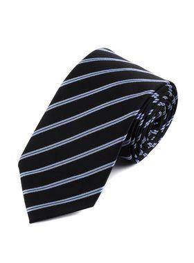 Классический темно-синий мужской галстук в полоску