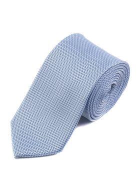 Серебристо-голубой мужской галстук с узором