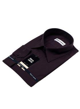 Хлопковая мужская рубашка больших размеров из структурной ткани