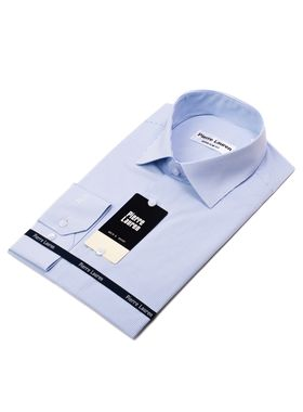 Мужская рубашка в голубую полоску