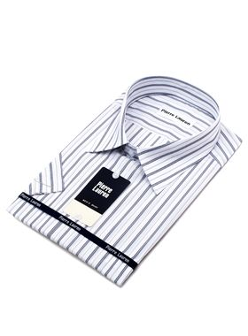 Мужская рубашка из 100% хлопка больших размеров c коротким рукавом