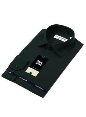 Мужская рубашка насыщенного зеленого цвета
