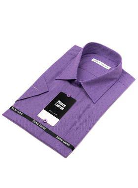 Классическая (прямая) мужская рубашка в клетку с коротким рукавом