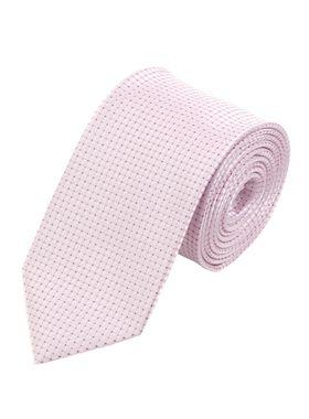 Мужской галстук светло-розового цвета с геометрическим узором.