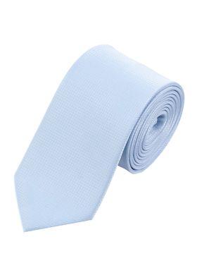 Красивый галстук голубого цвета.